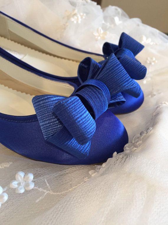 Sapphire Blue Flats - Royal Blue Wedding Shoes - Wedding Shoes ...