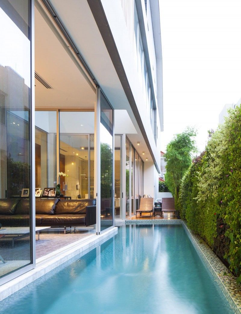 87dch House By Ong Ong Khoo Guo Jie Indoor Pool Design Indoor Outdoor Pool Pool Houses