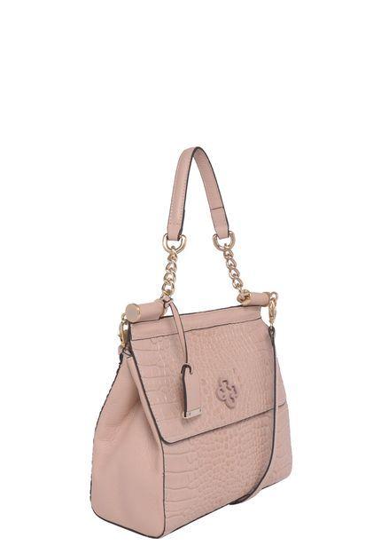 7ea1f390b Bolsa Couro Tote Média Capodarte Croco Nude - Marca Capodarte Clutches,  Leather Tote Handbags,