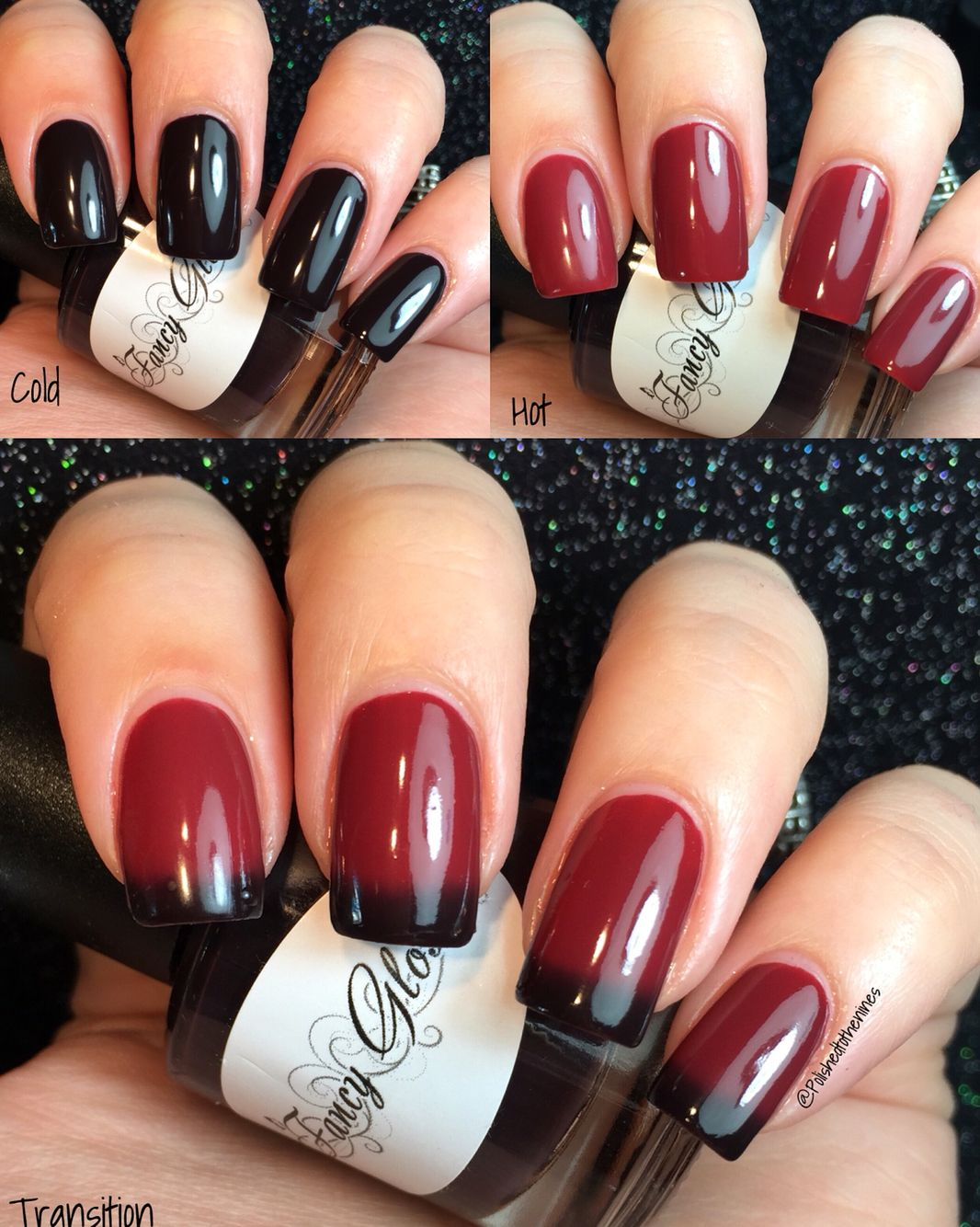 Fancy Gloss - Black Heart - Thermal Polish | My Fancy Gloss Swatches ...