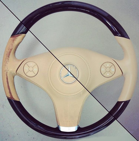 how to restore a leather steering wheel is your leather steering wheel in need of some care. Black Bedroom Furniture Sets. Home Design Ideas