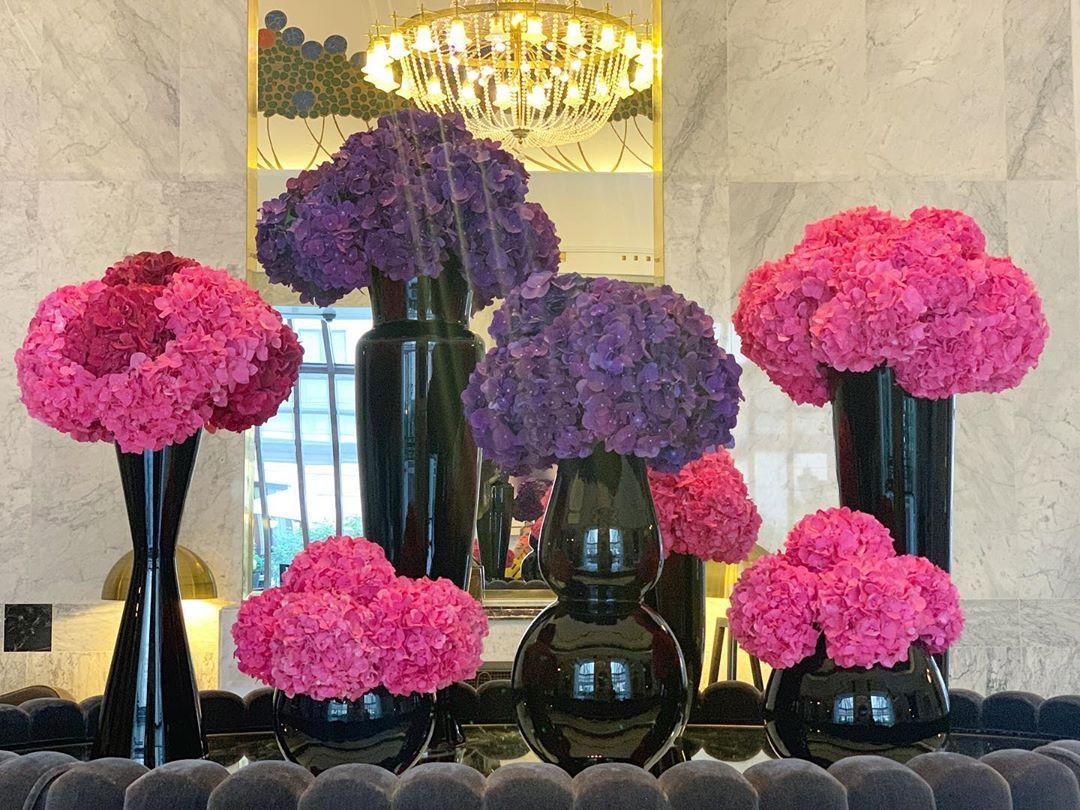 Czarne Wazony W Hotelu Glass Vase Vase Glass