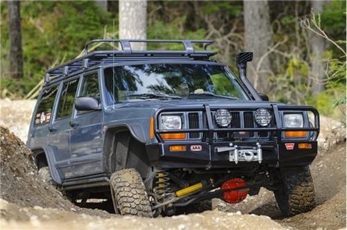 Arb 4x4 Accessories Black Jeep Xj Cherokee Deluxe Bull Bar Winch