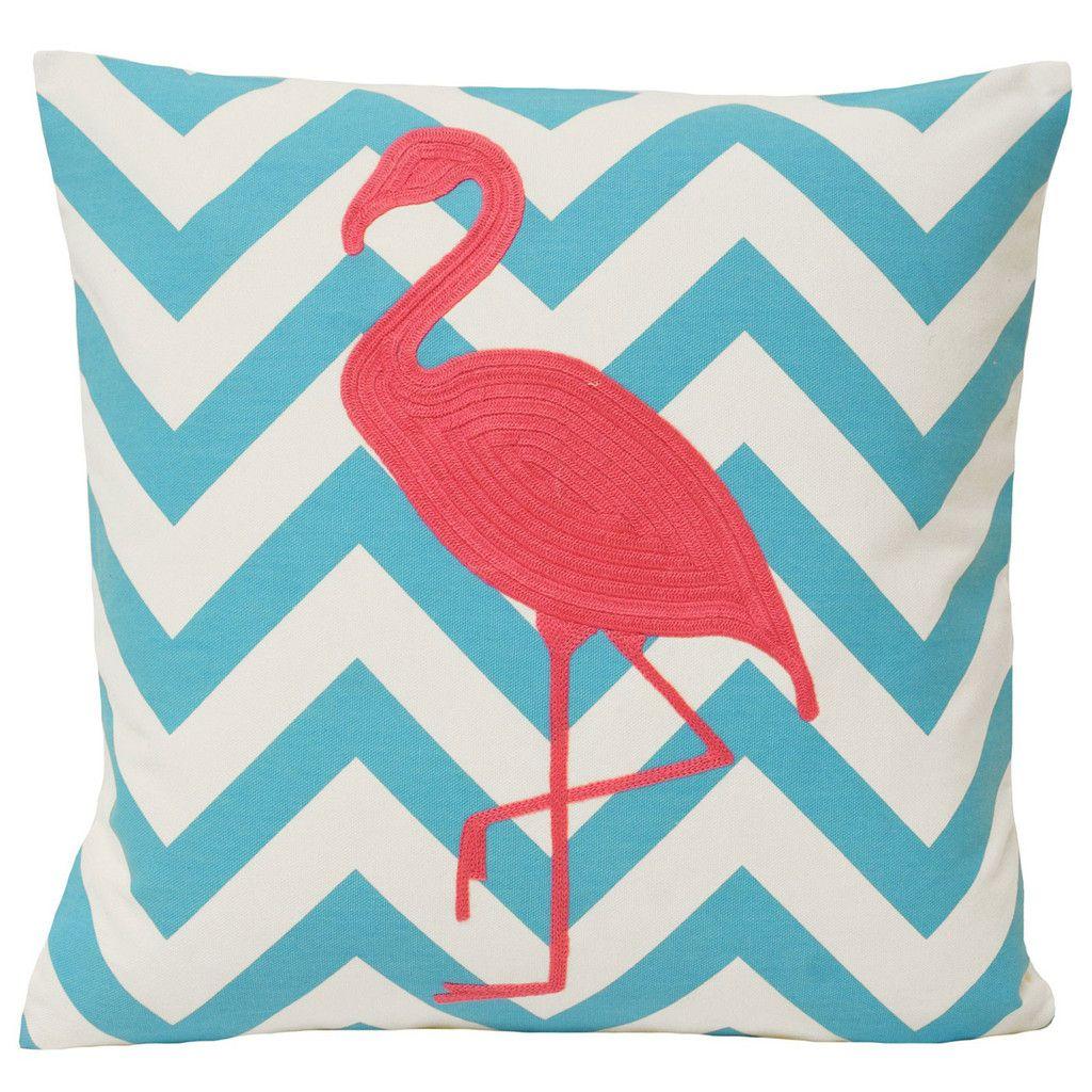Malibu Flamingo Cushion Cover, Blue & Pink | Interior inspiration ...