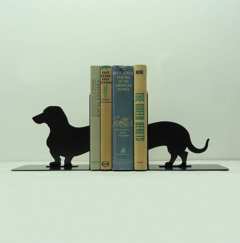 dachshund wiener dog metal art bookends free usa shipping