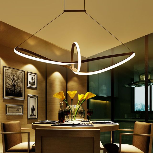 Modern Led Pendant Aluminium Suspended Dining Room Living Lighting Lamp NEO