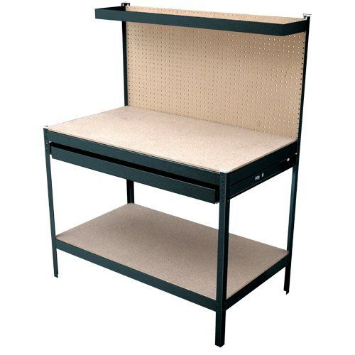 Gorilla Rack GR1902B 4-Feet Workbench with Single-Drawer, Black by Gorilla Rack. $185.00. From the Manufacturer                Rapid Rack Industries, Inc has been providing the industrial and commercial industry with the highest quality material storage solutions for over half a century. As Rapid Rack became a leader of storage solutions, we recognized the need for the same type of high quality product in the retail marketplace, thus, Gorilla Rack Product line was formed...