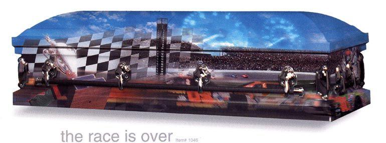 Racing Casket Coffin Custom