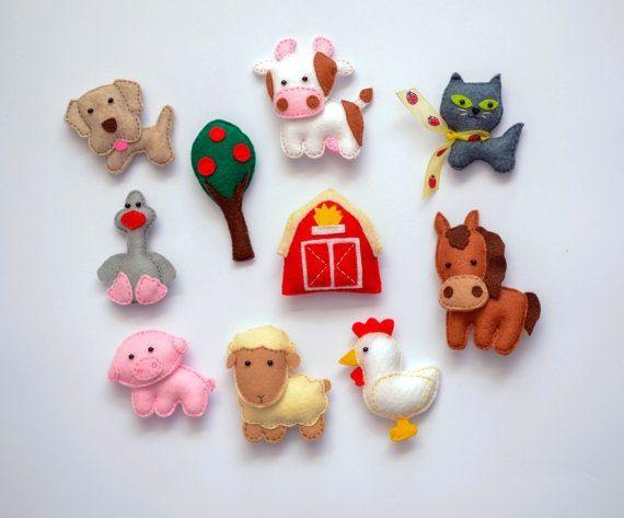 Farm Animals Felt Magnets Price Per 1 Item Make Your Own Set
