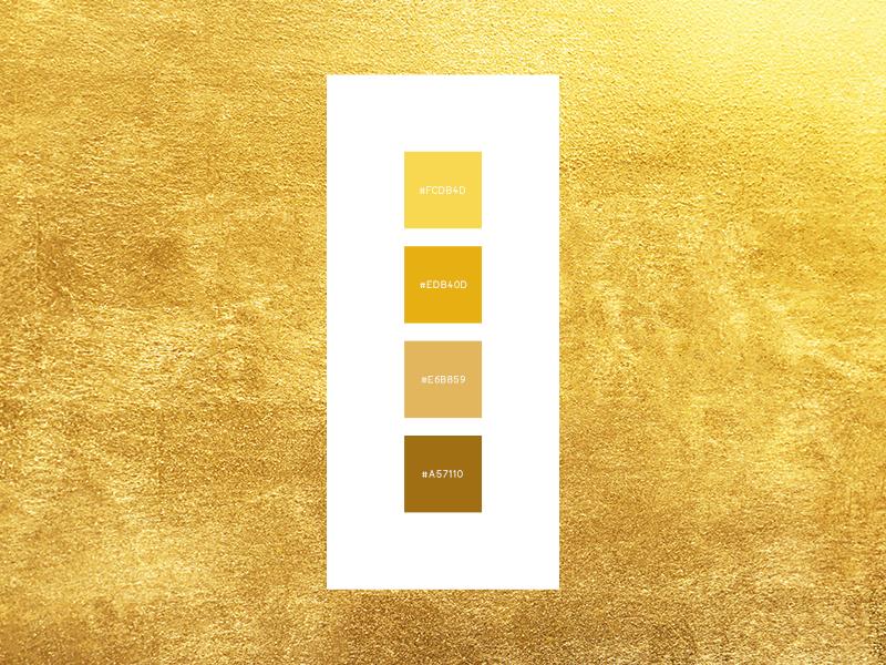 Gold color palette. | Paletas de colores dorados, Paletas de ...