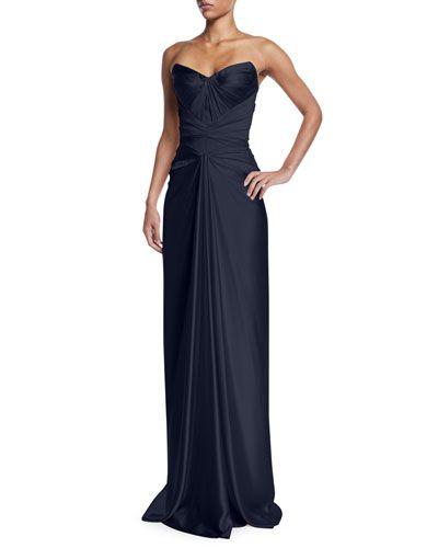 d58c702af58 B4KUZ Zac Posen Strapless Knot-Front Bustier Dress