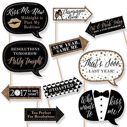 Funny New Year's Eve - New Years Eve Photo Booth Props Ki ...