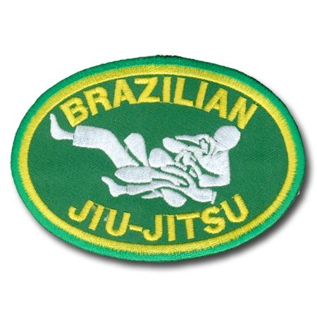 "5/"" Brazil and USA Flag Jiu-jitsu Martial Arts Patch"