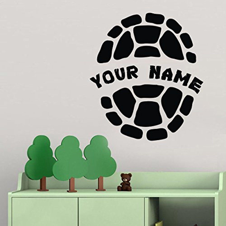 Personalized teenage mutant ninja turtles vinyl wall decal for kids