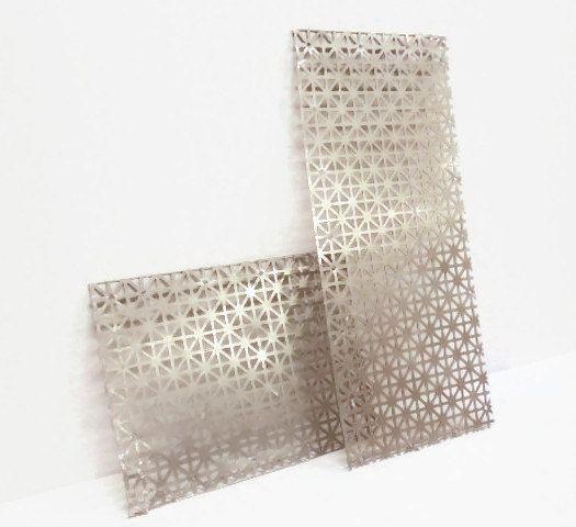 Perforated Aluminum Sheet Metal Salvage 2 Sheets Etsy Aluminum Sheet Metal Decorative Metal Screen Sheet Metal