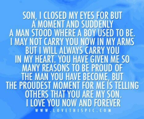 Picture Quotes For A Son S Birthday From His Mother Google Search Mother Quotes My Son Quotes Son Quotes