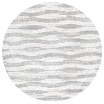 Nuloom Tristan Modern Striped Gray 8 Ft Round Rug Bdsm02a 76076r