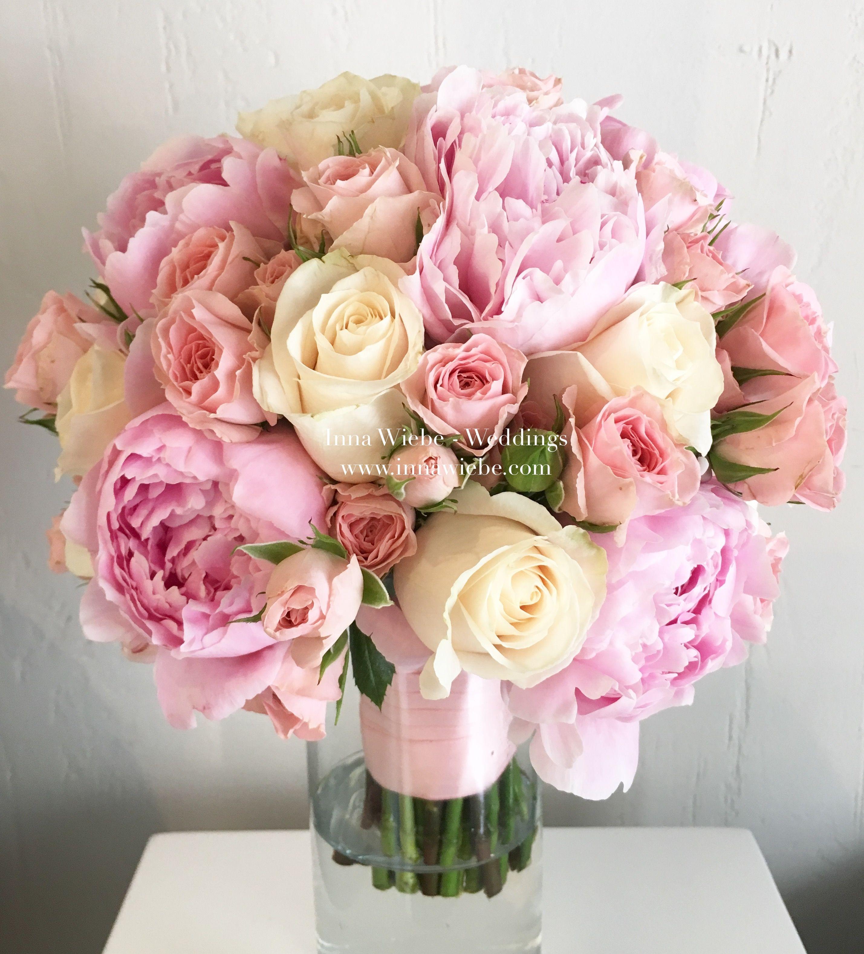 Brautstrau mit pfingstrosen in ros brautstrau bridalbouquet bride flowers blumenstrau - Pfingstrosen dekoration ...