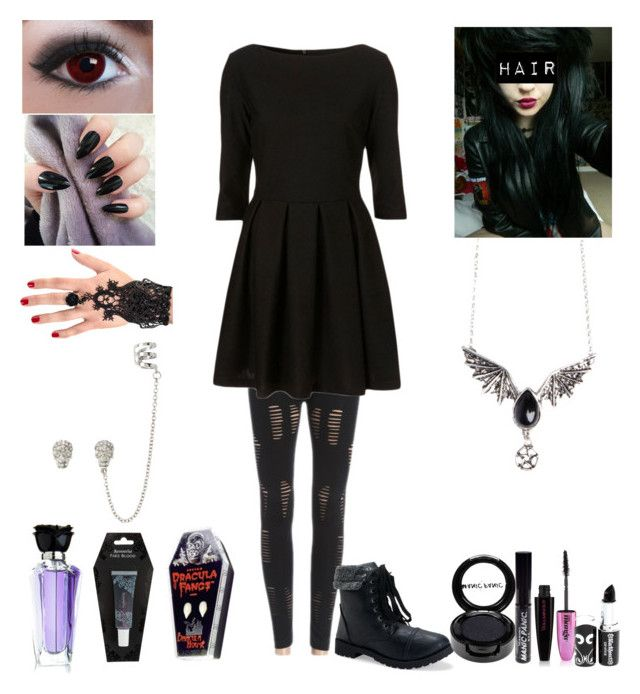 """Halloween Style #3"" by katlanacross ❤ liked on Polyvore featuring Aéropostale, Accessorize, INDIE HAIR, Manic Panic and L'Oréal Paris"