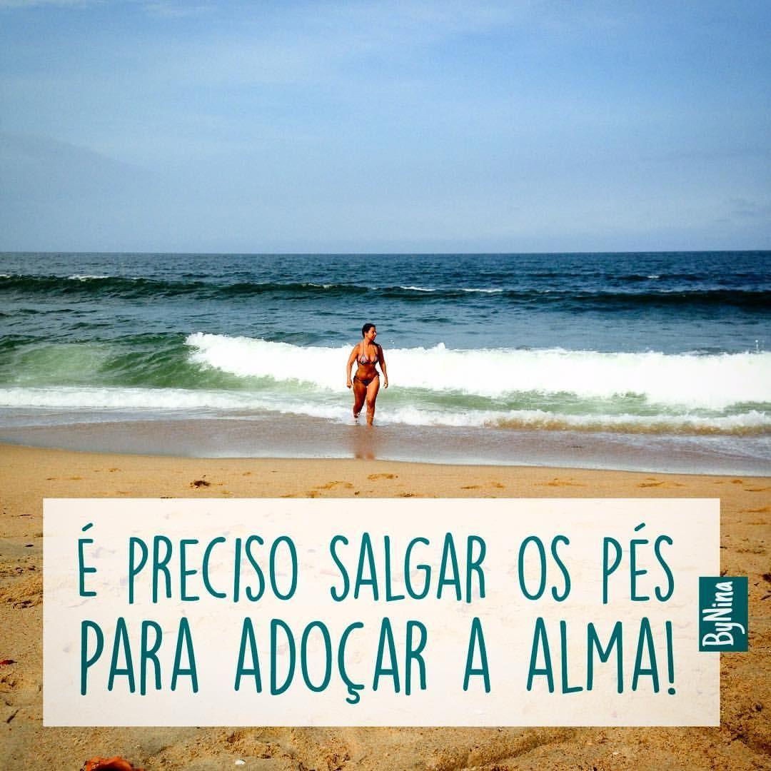 Dos Grandes Prazeres Da Vida Frases Praia Mar Verão
