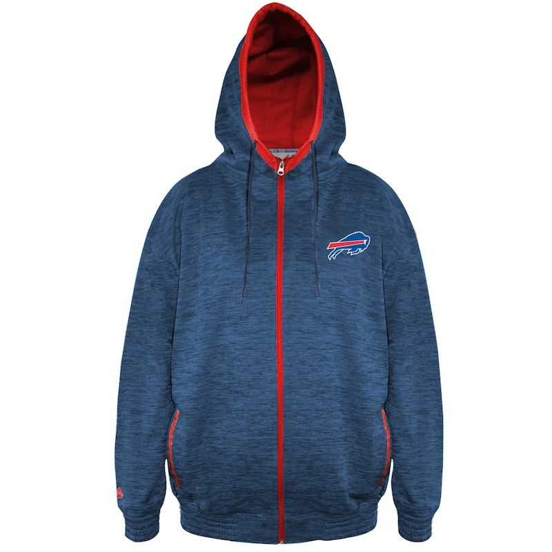 cc0f030a Buffalo Bills Majestic Big & Tall Space Dye Full-Zip Hoodie - Royal ...