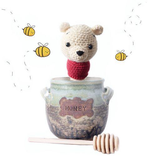 Winnie the Pooh - crochet baby rattle.   Epic Crochet   Pinterest