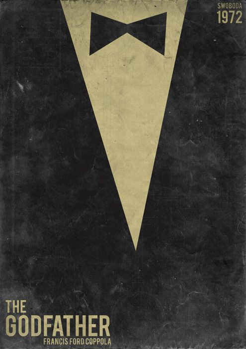 The Godfather By Swoboda Minimalmovieposters Movieposters Thegodfather Alternative Movie Posters Movie Posters Movie Posters Design