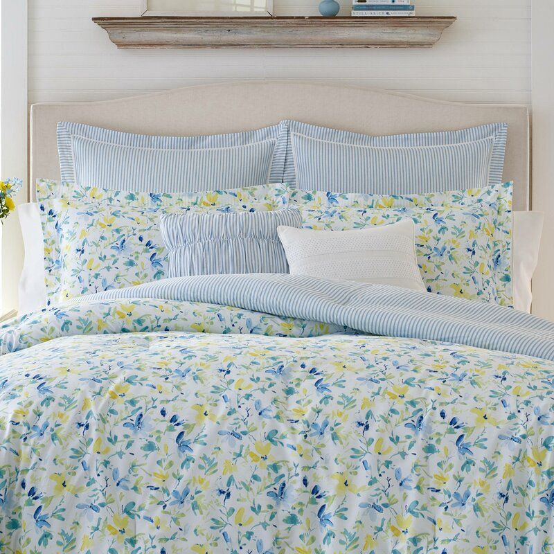Comforter Sets Yellow Bedding, Laura Ashley Bedding Blue And Yellow