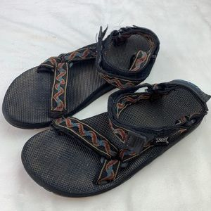 Mens Teva Pattern Strappy Velcro Sandals