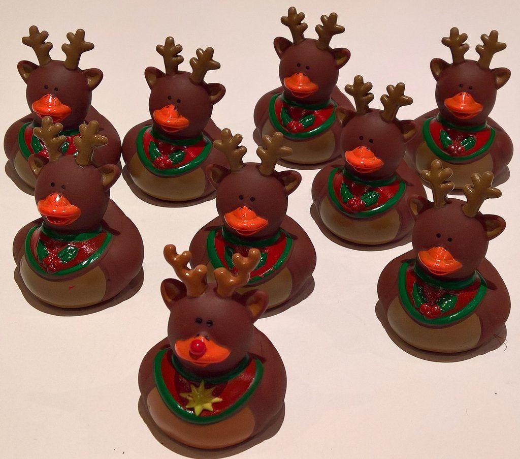 Reindeer Rubber Duckies - Pack of 9 Ducks | Rubber Duckies ...