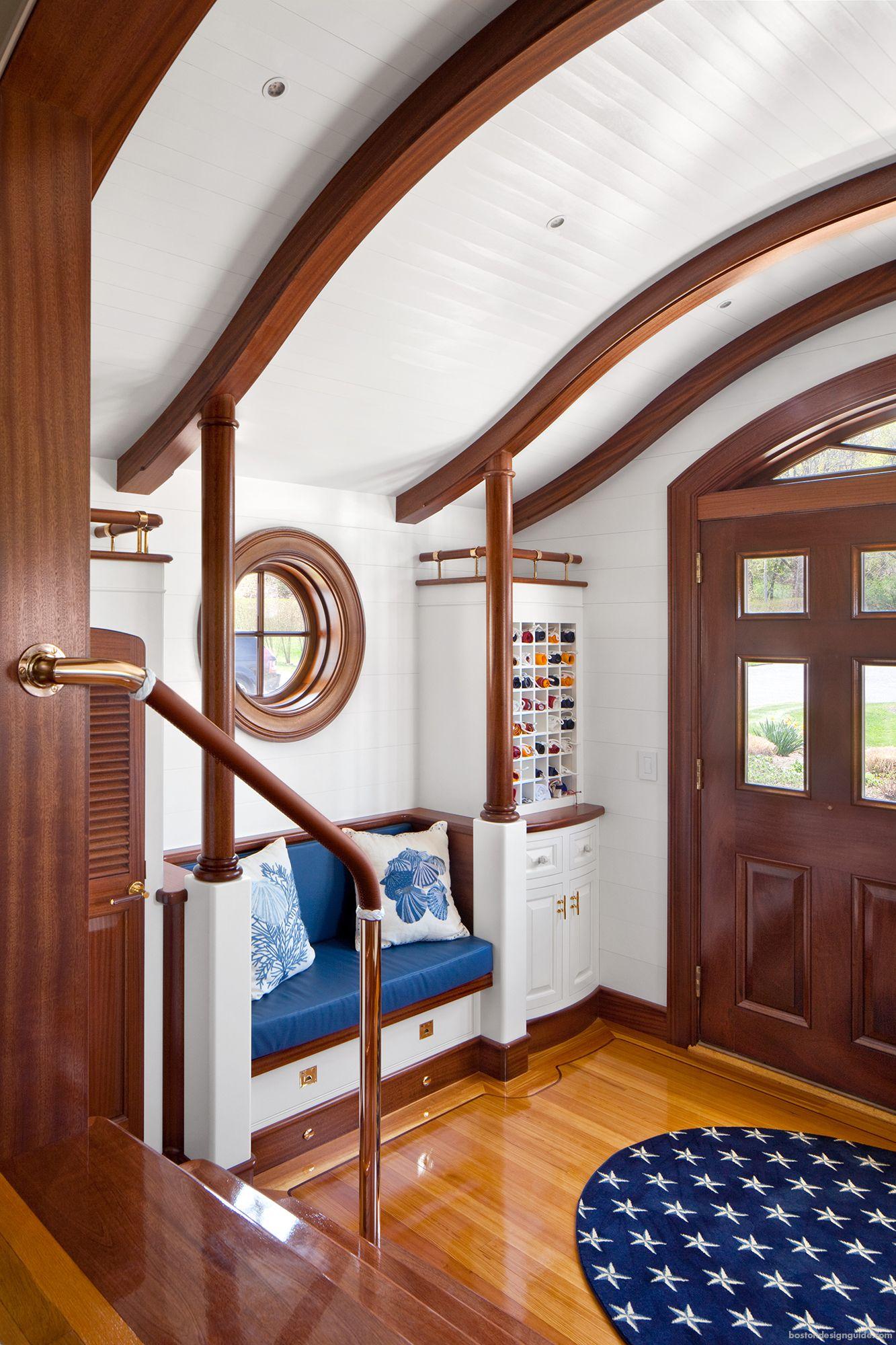Nautical Yacht Inspired Home Architectural Millwork Wetstone Millwork Boat Interior Design Yacht Interior Design Home