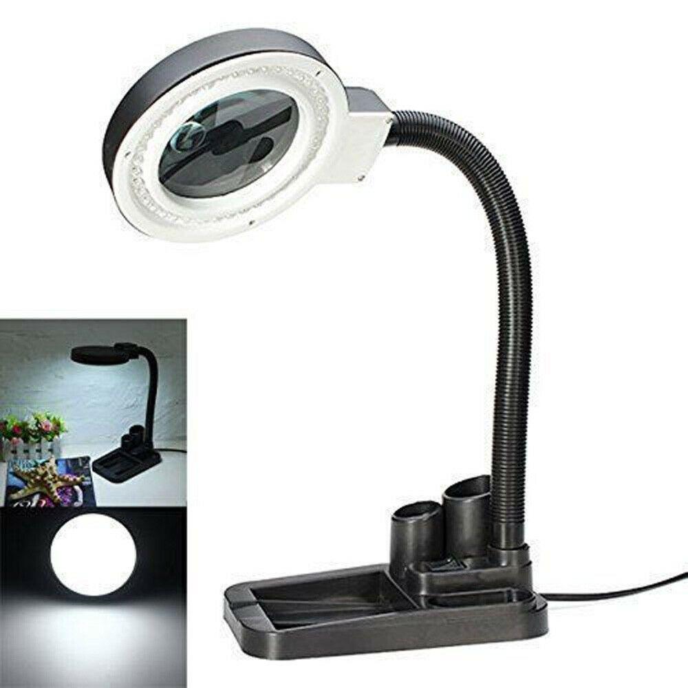 Desk Clamp Magnifying Lamp Workbench Led Light With 5x 10x Magnifier Swivel Magnifying Desk Lamp Glass Desk Lamps Glass Desk