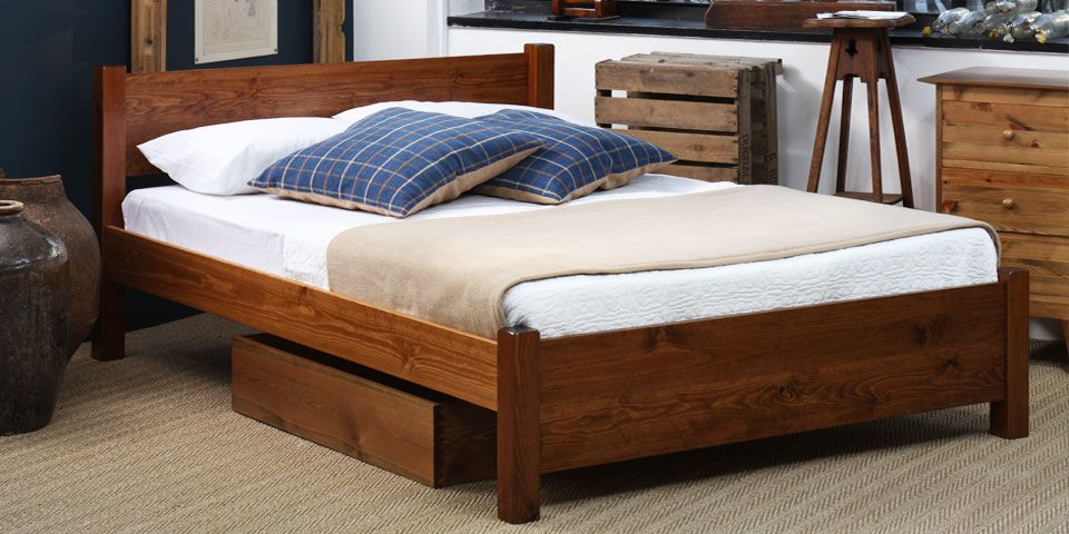 shaker bed. in true shaker style this wooden bed is simple with