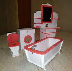 Bathroom set for Barbiе Furniture for 12 inch doll