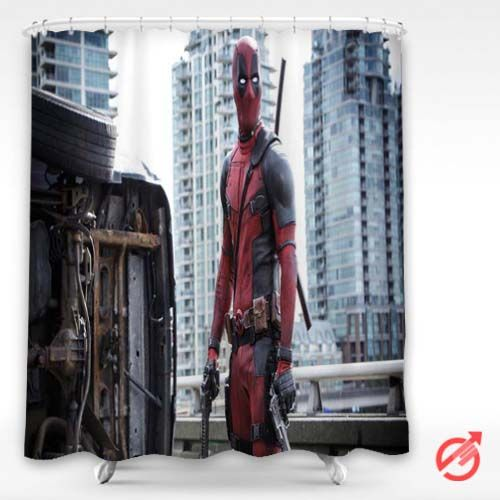 Movie Deadpool in action Shower Curtain #decorative #bathroom ...