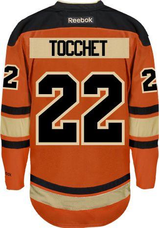 8f06d4720d0 Philadelphia Flyers VINTAGE Rick TOCCHET  22  C  Official Third Reebok  Premier Replica NHL Hockey Jersey (HAND SEWN CUSTOMIZATION)