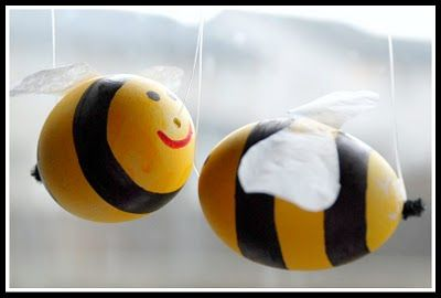 easter bumble bee eggs - diy
