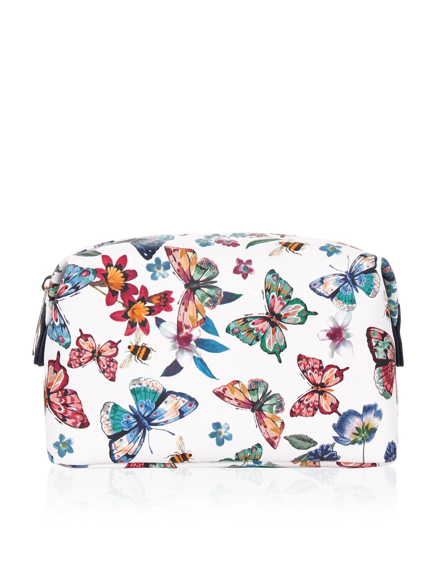 discount sale best quality latest discount Accessorize Butterfly printed makeup bag, Multi-Coloured on ...