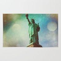 #Society6 #art #decor #Rugs The Statue Of Liberty  #Society6...
