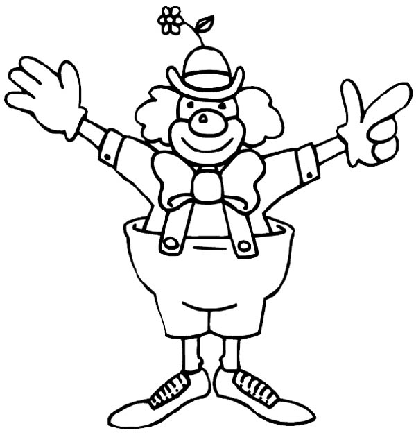 funny clown from circus and carnival coloring pages  bulk