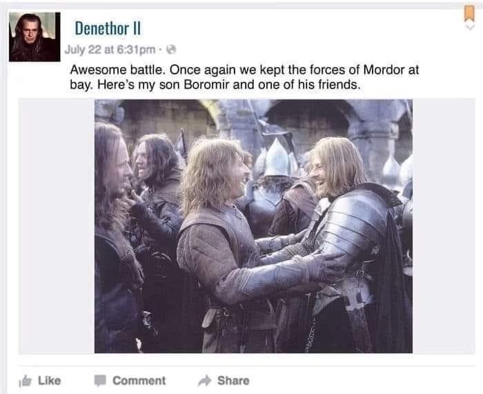 Boromir Give The Ring To Frodo As You Wish I Care Not The Ring
