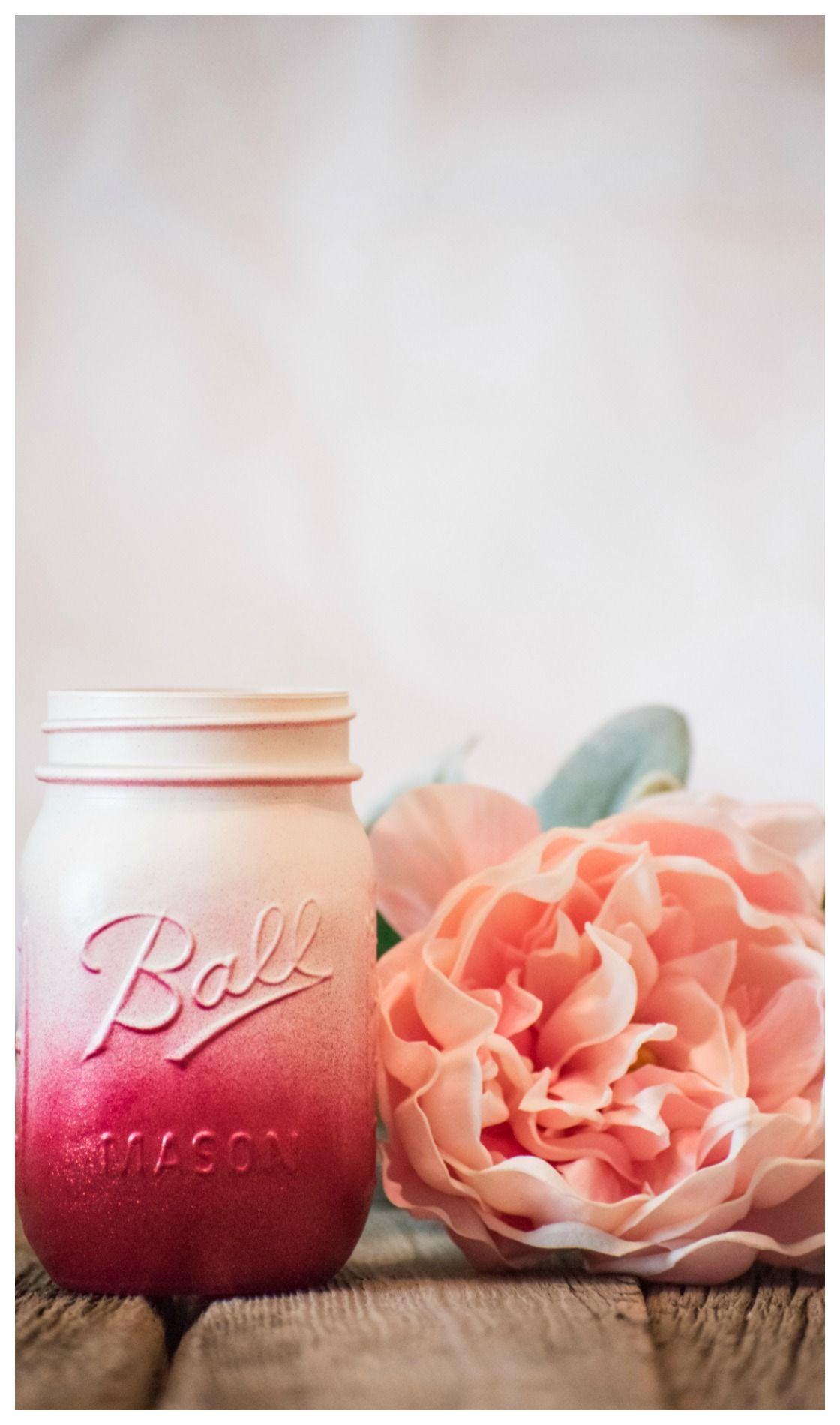 Maroon Centerpiece Mason Jar Wedding Party Vase Ivory and Dark Red ...