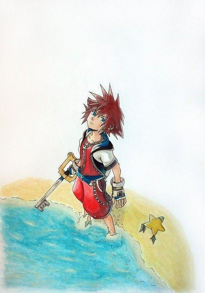 SQUARE ENIX, Disney, Kingdom Hearts, Sora (Kingdom Hearts), Paopu Fruit, Ocean