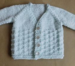 7c2c32f0d298 Free knitting pattern. Pattern category  Baby Cardigan. DK weight ...