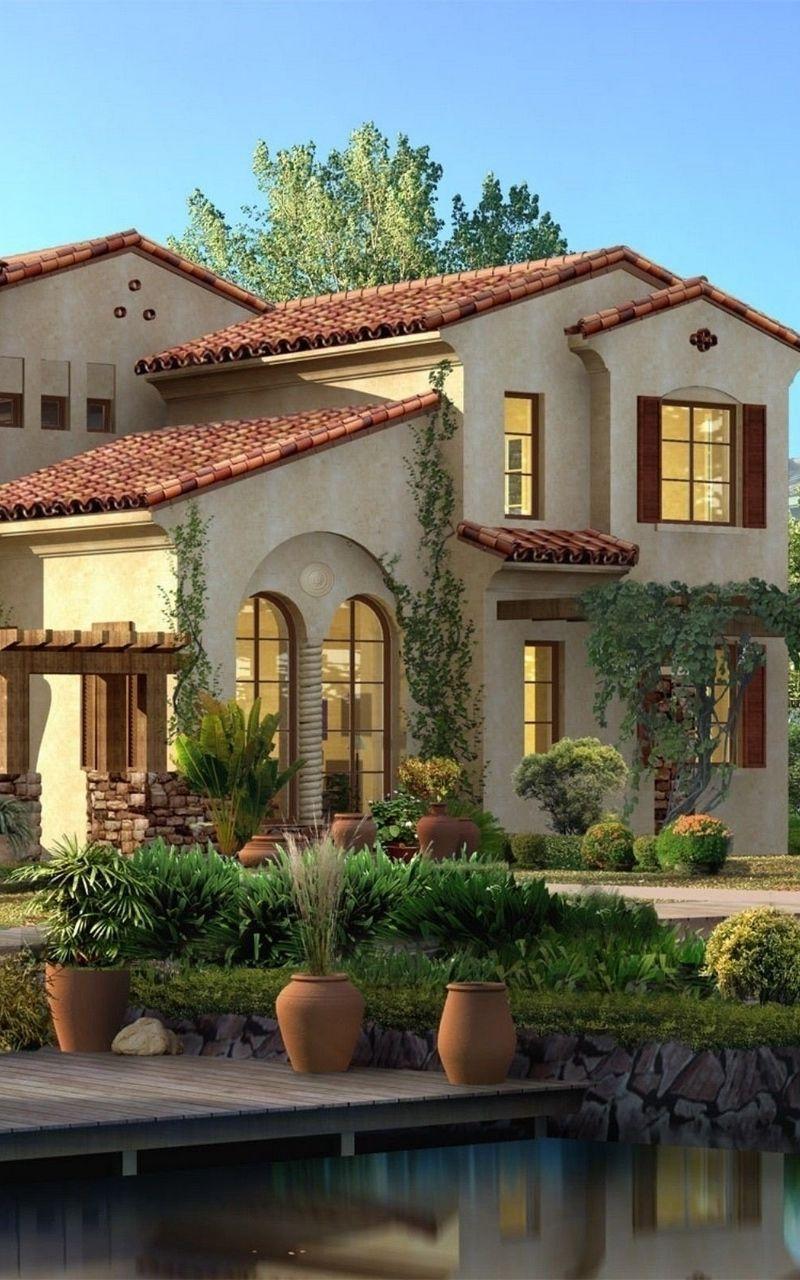 Wallpaper Beautiful Design Greens House Style House Styles House Beautiful Design