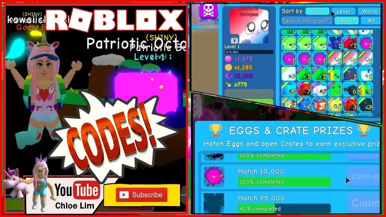 Bubble Gum Simulator Codes Limited Time 4th July Egg Octopus