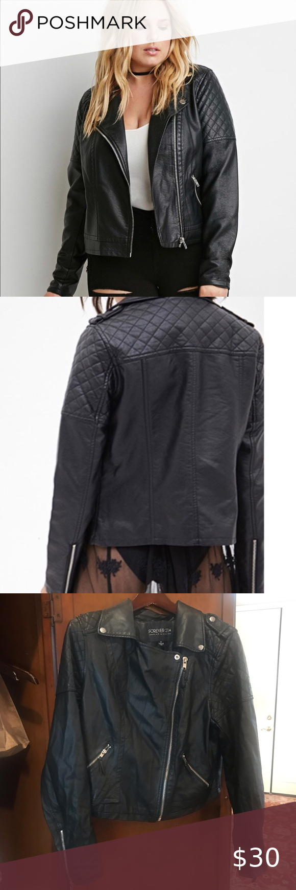 Forever 21 Plus Faux Leather Black Moto Jacket Black Moto Jacket Forever 21 Plus Faux Leather Moto Jacket [ 1740 x 580 Pixel ]
