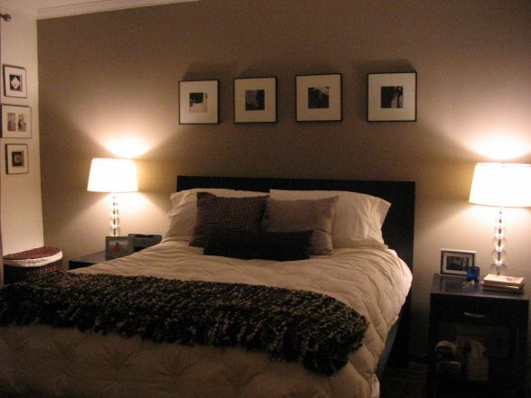 Cozy Taupe Master Bedroom Love The Idea Of A Pic Of Us