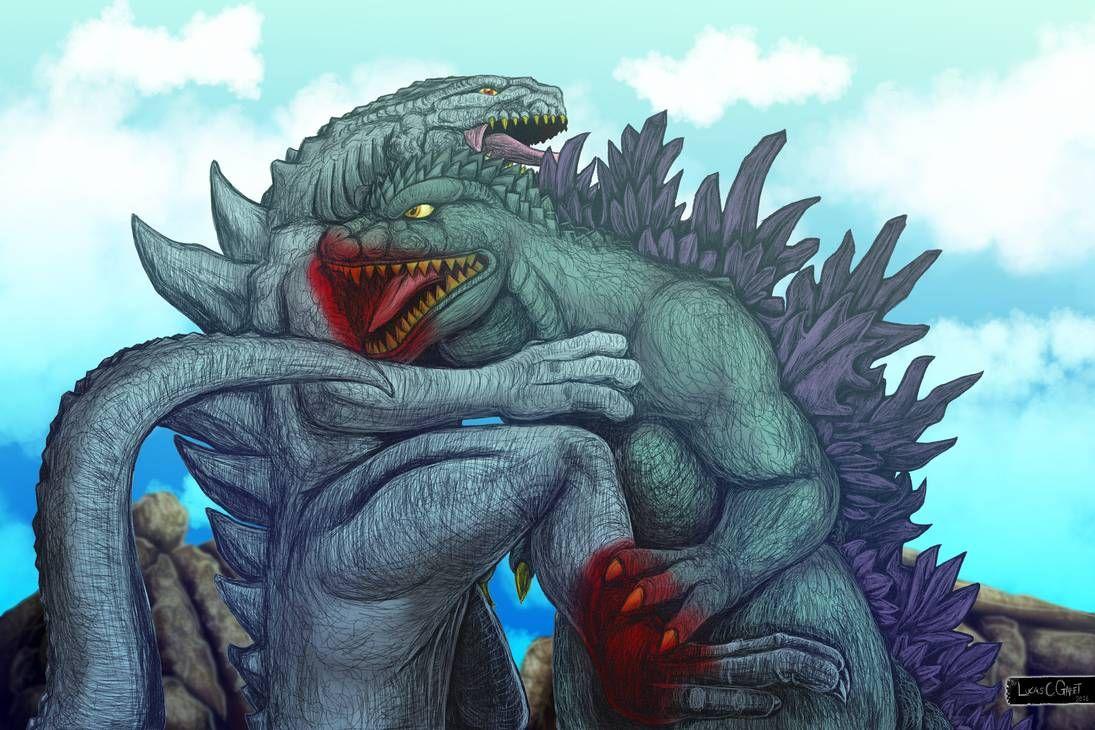 Godzilla Vs Zilla By Lucascgabetarts Godzilla All Godzilla Monsters Kaiju Art