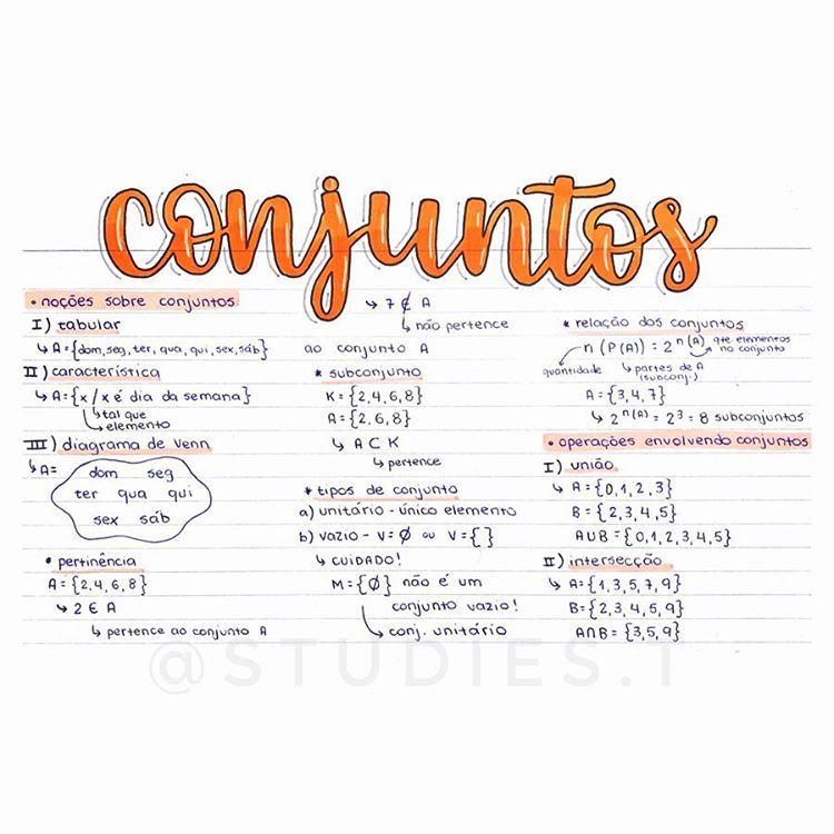 Correca Planos De Estudo Enem Conjuntos Matematica Estudos